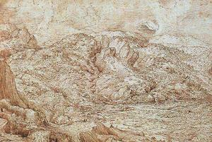Pieter Bruegel The Elder - Landscape of the Alps