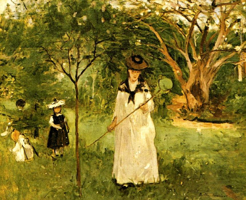 famous painting Butterfly Hunt of Berthe Morisot
