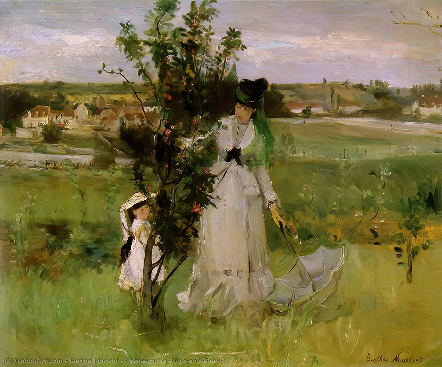 famous painting Cache-cache (Hide-and-Seek) of Berthe Morisot