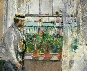 Berthe Morisot - Eugene Manet on the Isle of Wight