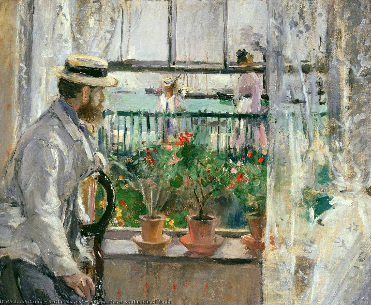 famous painting Eugene Manet on the Isle of Wight of Berthe Morisot