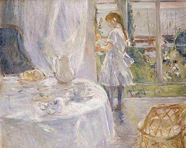 famous painting Interior of a Cottage of Berthe Morisot