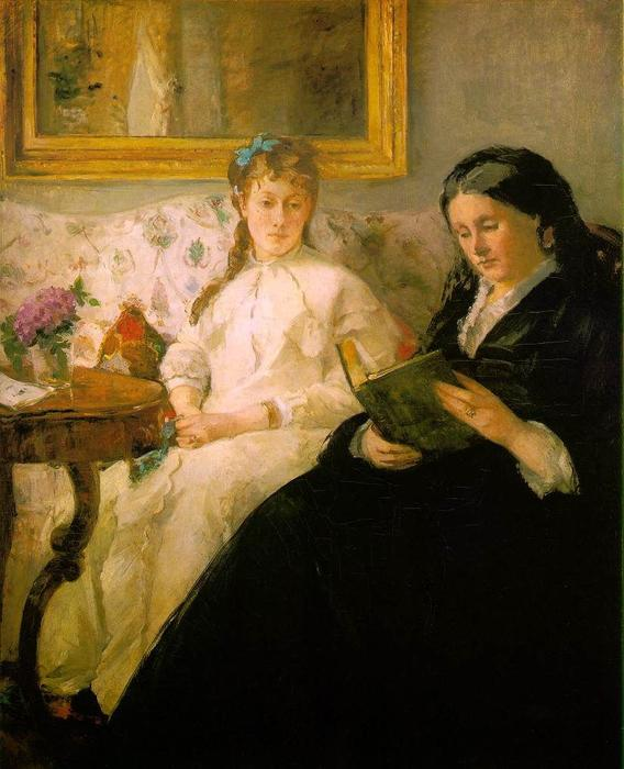 famous painting La lecture (Reading, The Mother and Sister Edma of the Artist) of Berthe Morisot