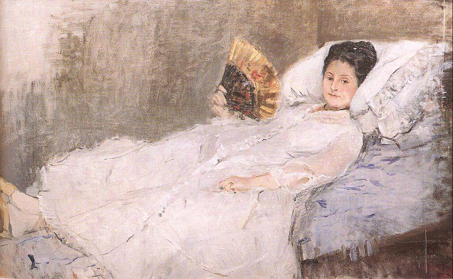 famous painting Mme. Hubard of Berthe Morisot