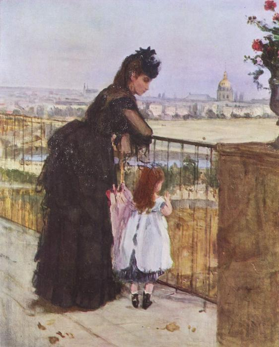 famous painting On the Balcony of Berthe Morisot