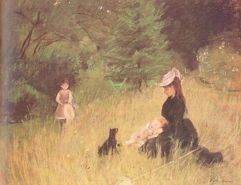 famous painting On the Lawn of Berthe Morisot