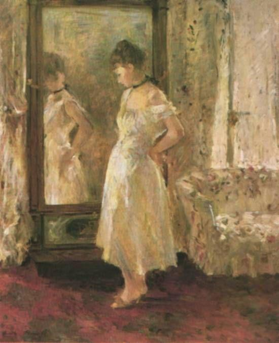 famous painting The Psyché of Berthe Morisot