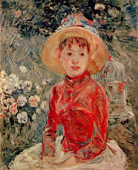 famous painting The Red Jacket. Mlle Isabelle Lambert of Berthe Morisot