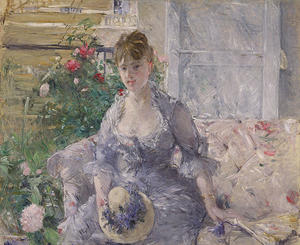Berthe Morisot - Young Woman Seated on a Sofa