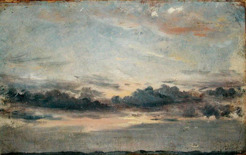 famous painting A Cloud Study, Sunset of John Constable