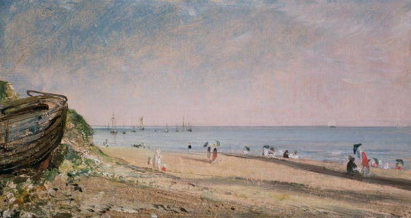 famous painting Brighton Beach1 of John Constable