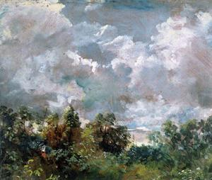 John Constable - Clouds study with trees1