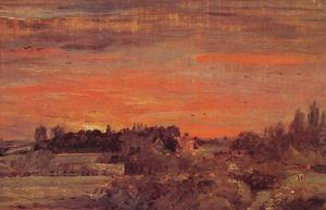 John Constable - East Bergholt Rectory