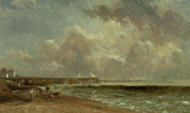 famous painting Yarmouth Pier of John Constable