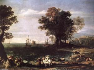 Claude Lorrain (Claude Gellée) - The Rape of Europa