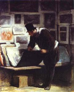 Honoré Daumier - The Etching Amateur