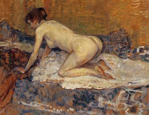 Henri De Toulouse Lautrec - Crouching Woman with Red Hair