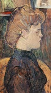 Henri De Toulouse Lautrec - The Painter's Model Hélène Vary in the Studio1