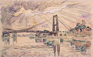 Paul Signac - Suspension Bridge in Les Andelys1