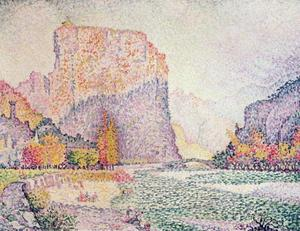 Paul Signac - The Cliffs at Castellane