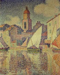 Paul Signac - The Clocktower at St. Tropez