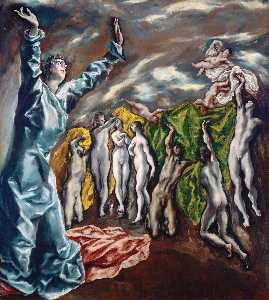 El Greco (Doménikos Theotokopoulos) - Fifth Seal of the Apocalypse. (Vision of St.John)