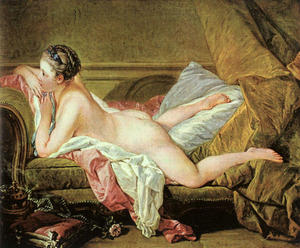 François Boucher - Nude on a Sofa