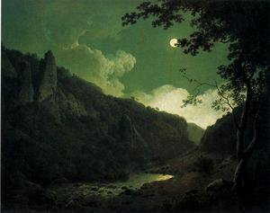 Joseph Wright Of Derby - Dovedale by Moonlight