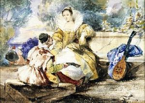 Richard Parkes Bonington - Lute Lesson