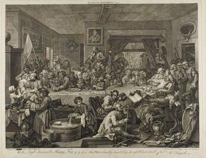William Hogarth - An Election Entertainment, plate one from Four Prints of an Election
