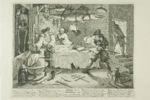 William Hogarth - Hudibras and Sidrophel, plate eight from Hudibras