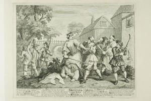 William Hogarth - Hudibras Vanquished by Trulla, plate five from Hudibras