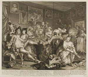 William Hogarth - Plate three, from A Rake's Progress
