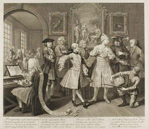 William Hogarth - Plate two, from A Rake's Progress
