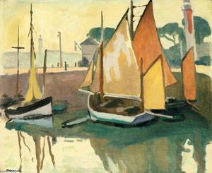 Albert Marquet - The Port of La Rochelle, Low Tide