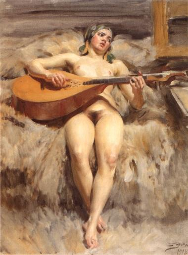 famous painting Ateljéidyll of Anders Leonard Zorn