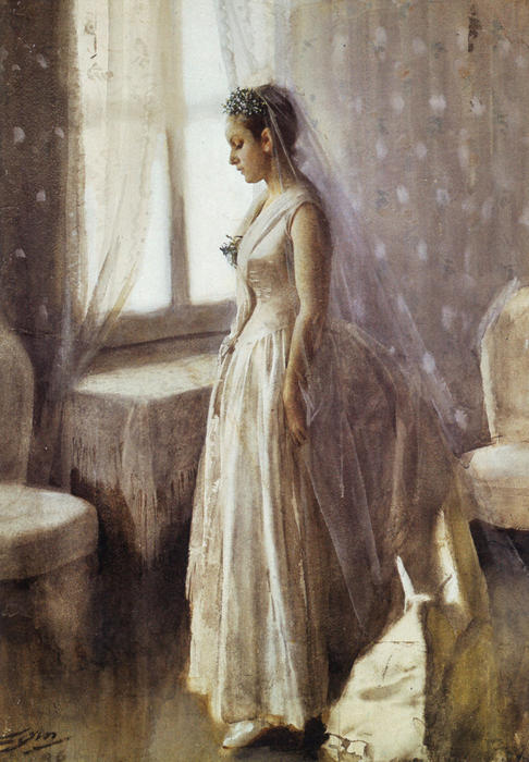 famous painting Bruden (The Bride) of Anders Leonard Zorn