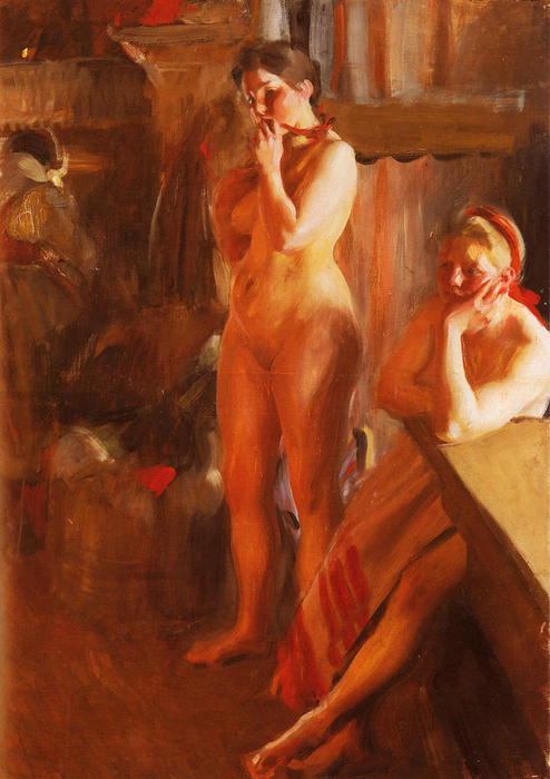 famous painting Eldsken of Anders Zorn