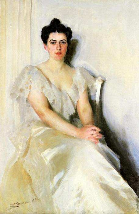 famous painting Frances Cleveland of Anders Leonard Zorn