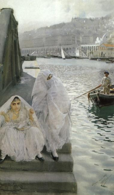 famous painting I Algers Hamn of Anders Leonard Zorn