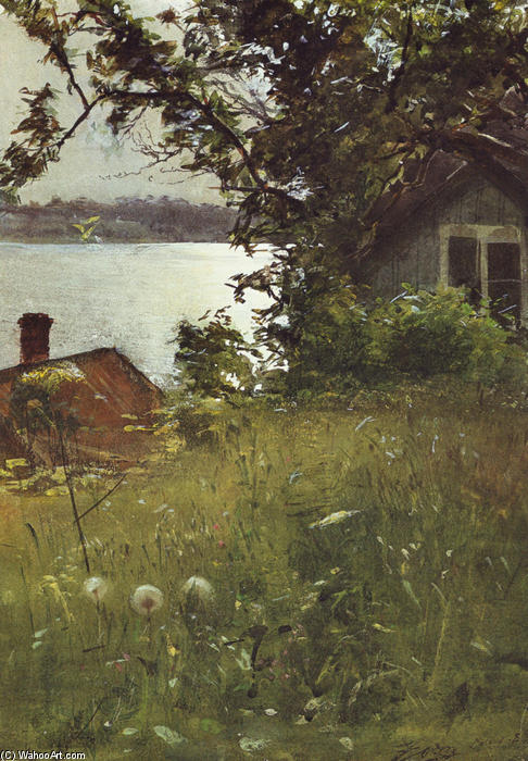 famous painting Junikväll (Evening in June) of Anders Leonard Zorn