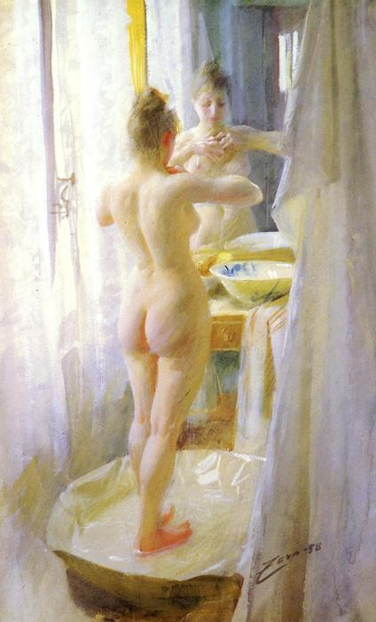 famous painting Le Tub of Anders Leonard Zorn