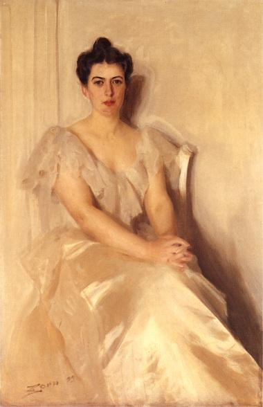 famous painting Mrs Frances Cleveland of Anders Zorn