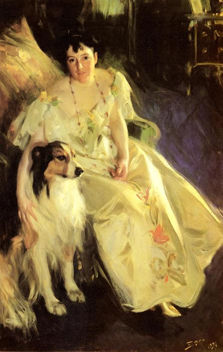 famous painting Mrs. Bacon of Anders Leonard Zorn