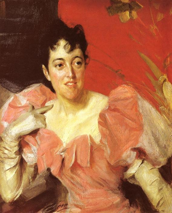 famous painting Mrs. Walter Bacon of Anders Leonard Zorn