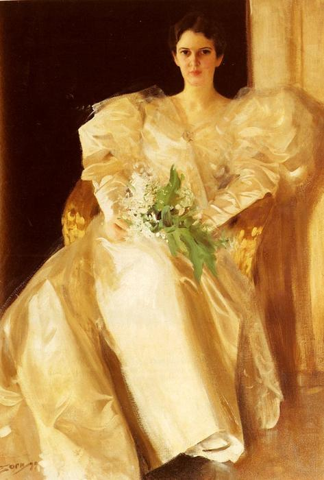 famous painting Portrait of Mrs. Eben Richards of Anders Leonard Zorn
