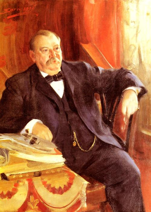 famous painting President Grover Cleveland of Anders Leonard Zorn