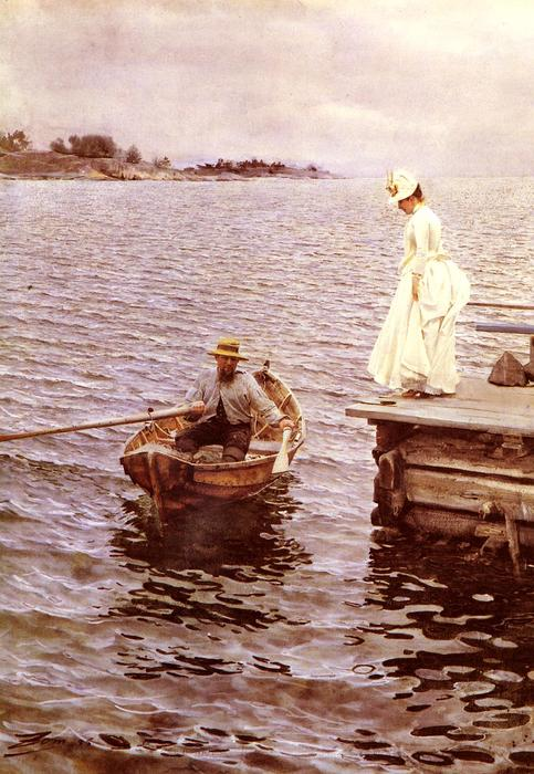 famous painting Sommarnoje of Anders Leonard Zorn