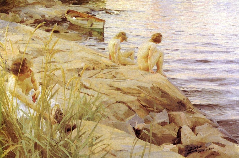 famous painting Ute of Anders Leonard Zorn