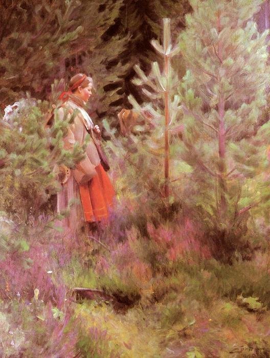 famous painting Vallkulla of Anders Leonard Zorn